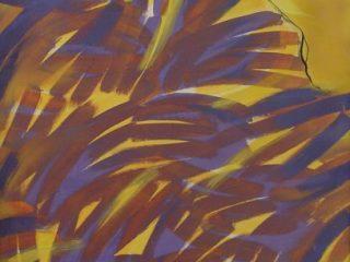 A. Bereziański, Himalaje-Impresjonizm, 1975, akryl, płótno 241 cm x 142 cm