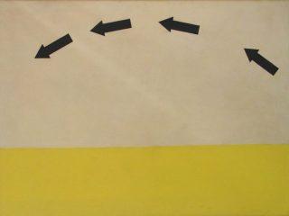 A. Bereziański, bez tytułu, ok 1969-1970, olej, półtno 122 cm x 162,5 cm
